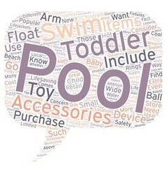 Popular pool accessories for toddlers text vector