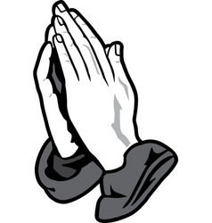 Praying hands icon graphic vector