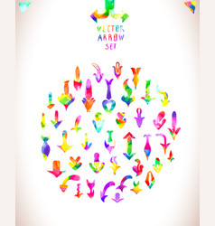Rainbow colors arrow collectio vector