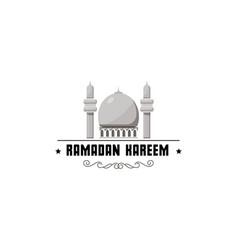 Ramadan kareem mubarak banner for postcards and vector