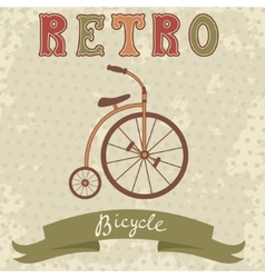 Retro style bicycle vector