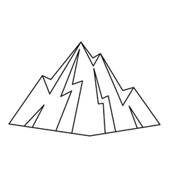 Rock icon outline style vector