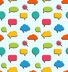 Seamless Pattern with Colorful Speech Bubbles vector