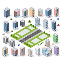 set urban district vector image