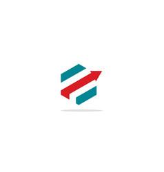 Shape line arrow business logo vector
