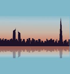 Silhouette of arab building scenery vector