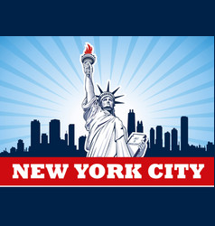 statue of liberty nyc usa vector image