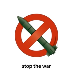 stop the war vector image