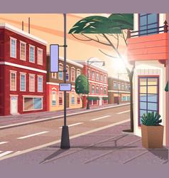 Street town cartoon the vector