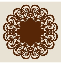 Template mandala pattern for decorative rosette vector