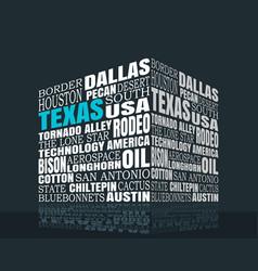 Texas words cloud vector