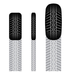 Tire track set 8 vector