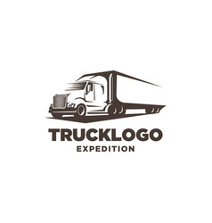 truck logo template vector image