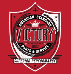 Vintage Americana Style Victory Label vector image