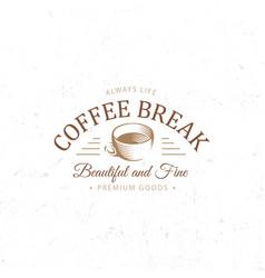 Vintage dark coffee emblem flat retro vector