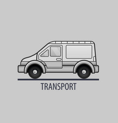 White delivery truck icon flat style vector