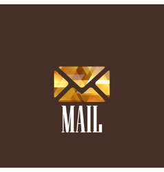 With diamond mail icon vector
