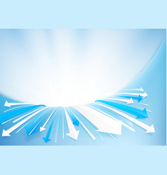abstract arrows background technology concept vector image