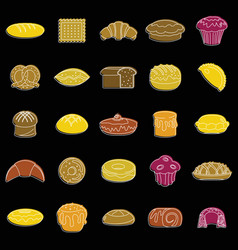 bakery product set doodle for vector image