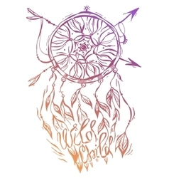 hand drawn of dream catcher native vector image vector image