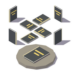 isometric black book vector image vector image