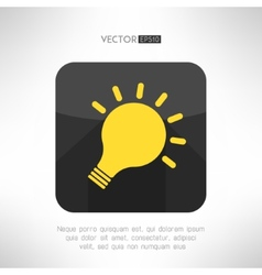 Light bulb icon in modern flat design Creativity vector image vector image