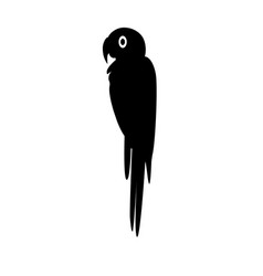 Macaw parrot silhouette icon in flat style vector