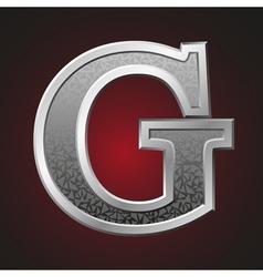 Metal letters g vector