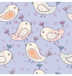 Seamless vintage pattern with birds vector image vector image