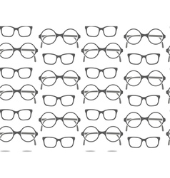 Set of fashionable glasses silhouettes vector image