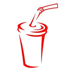 Takeaway soda in a polystyrene cup vector image