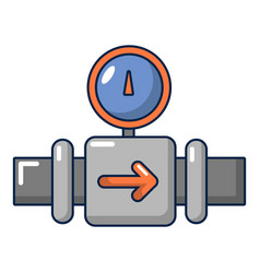 water meter pipe icon cartoon style vector image