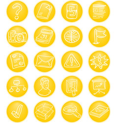 Yellow CMS icons vector image vector image