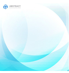 abstract light blue curve overlap background vector image vector image