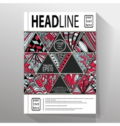 Abstract triangle brochure flyer design vector image