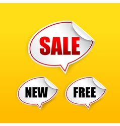 Collection of sale free new tag speech bubble vector image