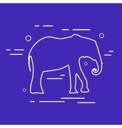 Elephant Line Icon vector image vector image