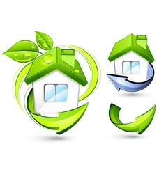 green homes vector image vector image