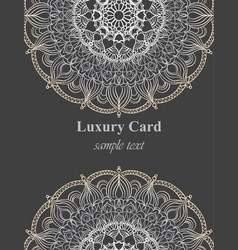 luxury business card with lace ornament vector image