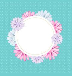 romantic vintage floral card romantic vintage vector image vector image