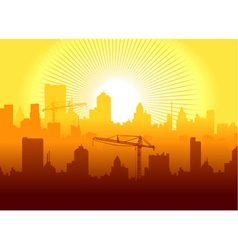 sunrise in town vector image vector image