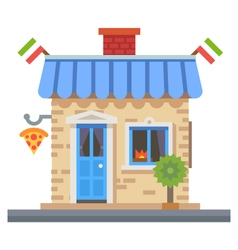 Shop building vector image vector image