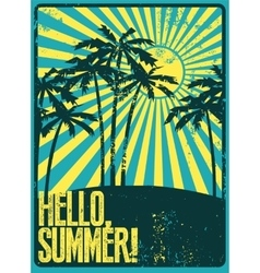 Summer typographic grunge retro poster vector image vector image