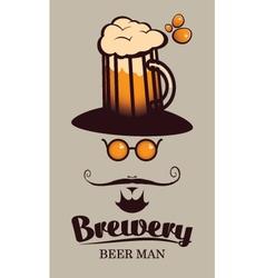 beer men vector image