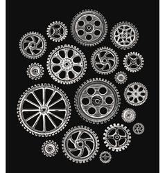 Cogwheels and gears vector image