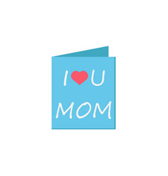 mothers day greeting card icon vector image vector image