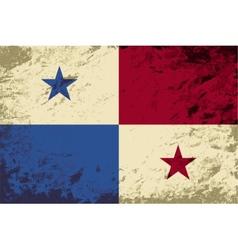 Panamanian flag Grunge background vector image