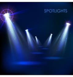 Realistic Spot Light Effect vector image