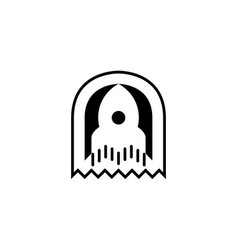 rocket icon logo template vector image vector image