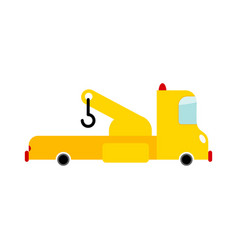 tow truck isolated transport on white background vector image